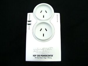 2 OUTLET SURGE PROTECTOR POWER HD MONSTER MONSTERPOWER HDP200 POWERCENTER