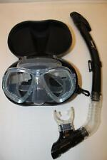 TDS Dive/Snorkel Mask - Clear/Blue w/ Dry Blue Snorkel- Model 88-8 Free Case!