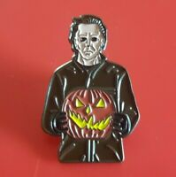 Mike Myers Pin Horror Halloween Pumpkin Enamel Retro Metal Brooch Badge Lapel