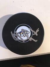 Viktor Arvidsson Signed Nashville Predators Logo Puck