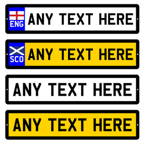 Personalised Number Plate ANY TEXT Novelty METAL Car Registration Sign Plaque