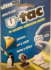 Ultraloc U-Tac Reutilizable Hogar Oficina Arte Arte Cartel Pegamento Adhesivo Masilla