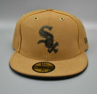 Chicago White Sox New Era 59FIFTY Beige Khaki Men's Fitted Cap Hat - Size: 7 3/8