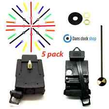 5 Pack Quartz Complete Pendulum Clock Drive Unit Movement Mechanism Plastic Hand