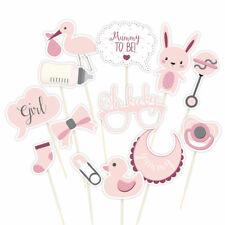 Apoyos de la foto para Baby Shower Pink Girl Club Green