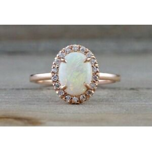 925Sterling Silver Natural Ethiopian Opal Gemstone Women Wedding Engagement Ring