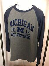 NWT/FREE SHIP J.AMERICA Men's Large Sweatshirt University Of Michigan