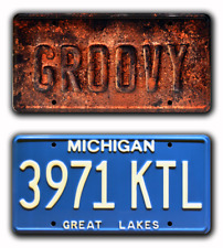 Ash vs Evil Dead | Oldsmobile | GROOVY + 3971 KTL | STAMPED Prop License Plates