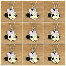 9pcs DISNEY MINNIE MOUSE PINK BOW GIRLS NECKLACES BIRTHDAY PARTY FAOVR GIFTS
