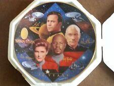Hamilton plates Star Trek Captions Todd Treadway Paramount Pictures 24Kgold rim