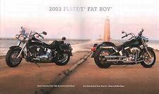 2003 HARLEY-DAVIDSON FLSTF FAT BOY 100TH ANV BROCHURE -FLSTFI FAT BOY
