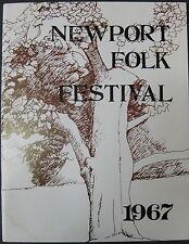 NEWPORT FOLK FESTIVAL 1967 Concert Program BUFFALO SPRINGFIELD Leonard Cohen +++