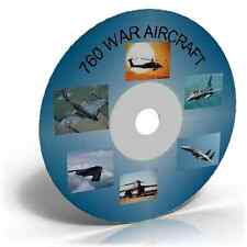 760 War Aircraft Images on CD, Historic photo picture CD collection