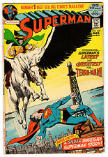 SUPERMAN #249 7.0 CREAM PAGES BRONZE AGE NEAL ADAMS COVER