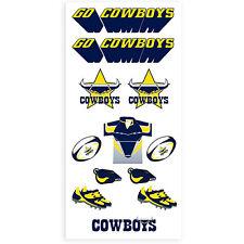 North Queensland Cowboys NRL Tattoo Sheet **NRL Official Merchandise**