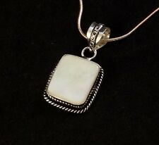"""Shell & 925 Silver Handmade Fashionable Pendant Necklace 18"""" H"""