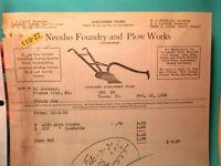 1930 NEOSHO FOUNDRY & PLOW WORKS Made in the Ozarks  BILL HEAD Farmer