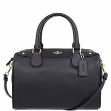 Coach F57521 Crossgrain Leather Mini Bennett Satchel Bag $295 Black