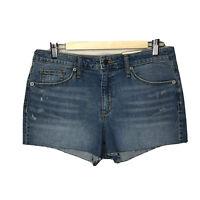 NWT Universal Thread Womens Jean Shorts Denim High Rise Shortie Raw Hem Size 12