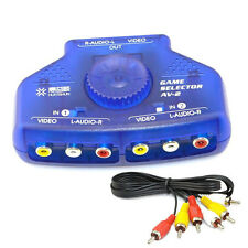 2-Way 2 Input 1 Output Audio Video AV RCA Switch Switcher Splitter Selector Box