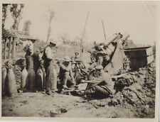 REPRINT OF ORIGINAL WWI PHOTO OF SOLDIERS RESTING AT ZONNEBEKE