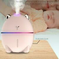 2 colors Portable Mini USB Humidifier Air Purifier Diffuser Aroma Cool Mist