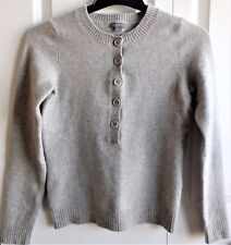 Ann Taylor Ladies Soft Wool, Angora Rabbit Hair, Button Sweater Gray-Size Small