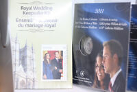 Collection Royal wedding Keepsake Kit & Canada Mint 2011 Coin William & Kate UK