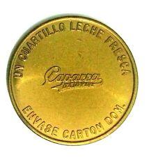 Ficha Leche CAPARRA DAIRY Milk 1/2 Dollar size BRZ San Juan PUERTO RICO 1960 *