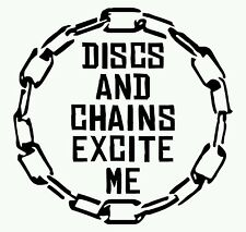 Disc Golf Vinyl Sticker Decal Discs and Chains