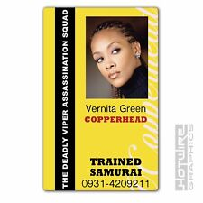 Plastic ID Card (TV & Film Prop) - Vernita Green COPPERHEAD Kill Bill Samurai