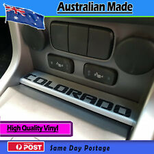 Dash Decal Carbon fibre finish. fits Holden Colorado