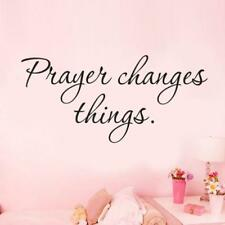 Prayer Changes Things Removable Art Vinyl Mural Decor Wall Stickers Glass Pink