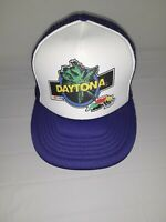 NOS Vtg  90s Daytona 500 NASCAR Racing Clarks Sports SnapBack Trucker Hat Cap