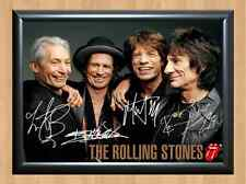 The Rolling Stones Mick Jagger Wood Signed Autographed A4 Print Poster Photo CD