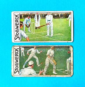 Cricket Gents Match Lot of 2 Scarce Stollwerck Jungdeutschland Cards 1915