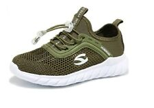 Girls Kids Green Trainers Toggle Closure Breathable Summer Running Shoe Size