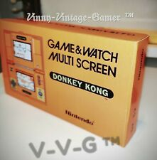 Nintendo Donkey Kong Game & Watch DK-52 1982 with box insert and instructions.