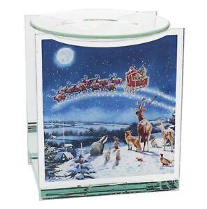 Glass Fragrance Oil Burner & Tea light Holder Candle Wax Melt Tart Warmer Gift