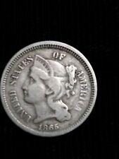 1865 THREE CENT PIECE HIGH GRADE U.S. 3C NICKEL