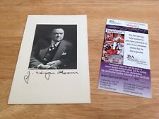 (SSG) J. EDGAR HOOVER Signed Photo (FBI Director) with a JSA (James Spence) COA