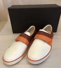 NIB Bottega Veneta Mens Leather Slip-on Sneakers Persim/Russet 8 US(41 EU) Italy