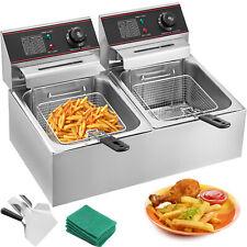 12l Friteuse Électrique frites commerciale Minuteur 12 litres professionnelle