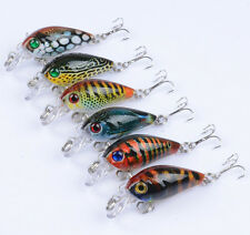 6pcs Lot Mini Baits Fishing Lures Plastic Crank Bait Tackle CrankBaits 4.5cm/4g