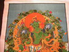 Grüne Tara Wandbehang aus Nepal (Green Tara wall hanging )