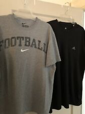 """Nike """"Football"""" & Adidas """"Climalite"""" T-shirts, Both XL, Pre-owned In GUC"""