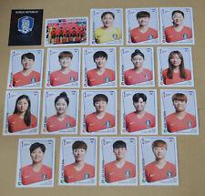 Panini Women's World Cup 2019 álbum Pegatina < elegir > Corea República Kor (43-61)