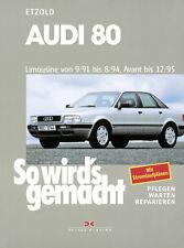 AUDI 80 1991-1995 B4 LIMO AVANT KOMBI REPARATURANLEITUNG SO WIRDS GEMACHT 77