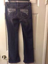 Apt.9 Boot-Cut Rhinestone Embellished Jeans; Size Petite 0; NWD (Broken Zipper)