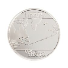Titanic Sailing Routes Commemorative Coin Collection Souvenir Silver Plated  HM